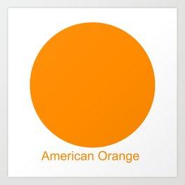 American Orange Art Print