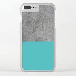Concrete x Blue Clear iPhone Case