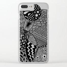Mimi Doodle Clear iPhone Case