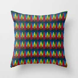 Trees in the style of bargello needle point Throw Pillow