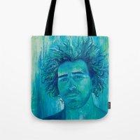 salt water Tote Bags featuring Salt Water Soul by Sophia Buddenhagen