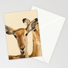 Impalas Watercolor Stationery Cards