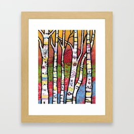 Enchanted Aspen Forest - The Trees Sparkle and Sing  Framed Art Print