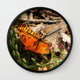 The Painted Lady Butterfly Wall Clock