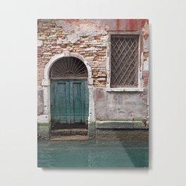 door to water - venice Metal Print