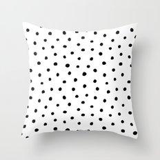 Polka Dot White Background Throw Pillow