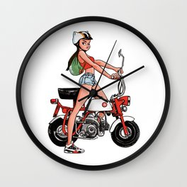 Sneaker Badge: CoolNoodle and her little monkey bike Wall Clock