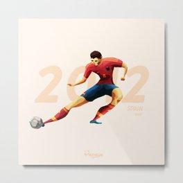 Euro History - Xavi 2012 Metal Print