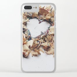 shavings Clear iPhone Case