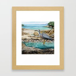 Lunch at the Beach Framed Art Print