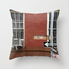Greenwich Street in New York Throw Pillow