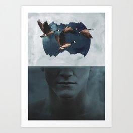 Mi[n]d Sea - Digital Collage Art Print