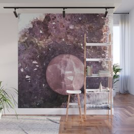 Amethyst and Pink Quartz Gemstone Wall Mural