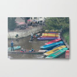 Punting on the Cherwell Metal Print