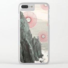 Spirograph Neahkahnie Headland Spires Clear iPhone Case