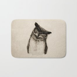 Owl Sketch Bath Mat