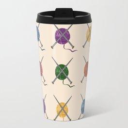 Crafty Yarn Knit Pattern Travel Mug