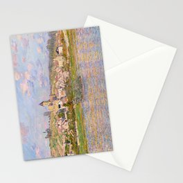 1879-Claude Monet-Vetheuil-60x81 Stationery Cards