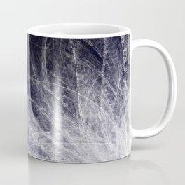 Cyan Texture Feathers Coffee Mug