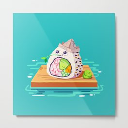 sailing sushi and 'sabi sidekick Metal Print