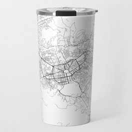 Minimal City Maps - Map Of Tirana, Albania. Travel Mug