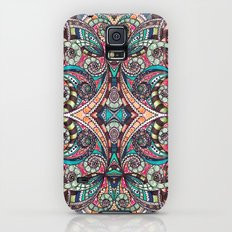 Drawing Floral Zentangle G237 Galaxy S5 Slim Case