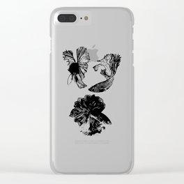 Beta Fish Lavender Clear iPhone Case
