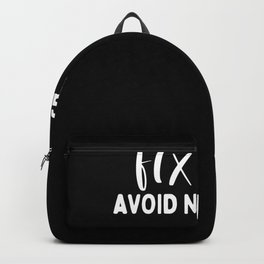 Avoid negativity Backpack