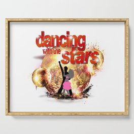 Dancing with the Stars Disco Balls Crashing 2 Resized Serving Tray