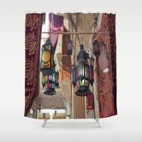 "lanterns Shower Curtains featuring Arabian Lanterns  by  (""3"")"
