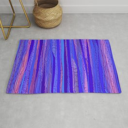 Blue - pink Abstract pattern Rug