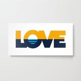 LOVE - People's Flag of Milwaukee Metal Print
