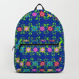 Pretty Flowers in a Row Backpack