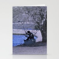 fishing Stationery Cards featuring Fishing by Anthony M. Davis