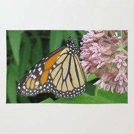 Monarch and Milkweed Rug