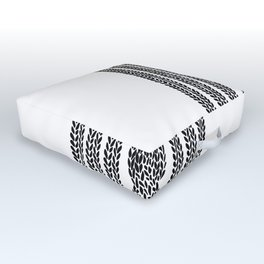 Cable Stripe White Outdoor Floor Cushion