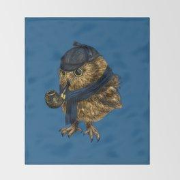 Sherlock // owl Throw Blanket