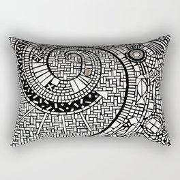 Oceana in Motion Mosaic Rectangular Pillow