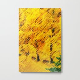 Ginkgo Biloba (Maidenhair) Trees in Autumn by Jéanpaul Ferro Metal Print