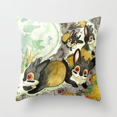Moonlight (With Jackalopes) Throw Pillow