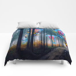 Forest of Super Electric Jellyfish Worlds Comforters