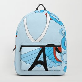 medical caduceus and stethoscope Backpack