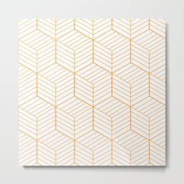 ZADA ((funky orange)) Metal Print