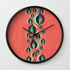 50's floral pattern III Wall Clock