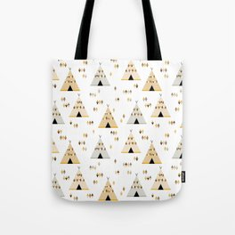 Teepees in yellow Tote Bag