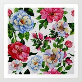 Vintage Floral Pattern No. 10 Art Print