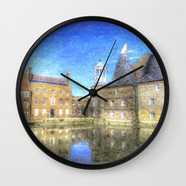 Three Mills Bow London Art Wall Clock