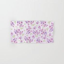 Little Purple and Pink Flowers Hand & Bath Towel