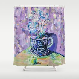 The flower with the miracle apple Shower Curtain