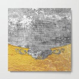 Golden foil and concrete Metal Print